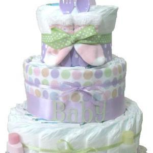 Baby gift baby diaper cake lavender..