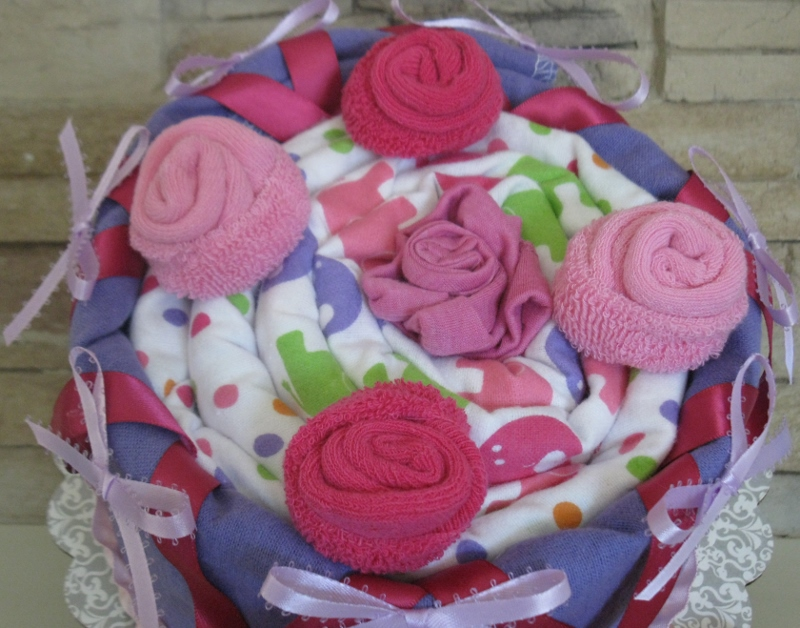 Baby Girl Gift Blanket Diaper Cake baby shower new baby gift mom gift