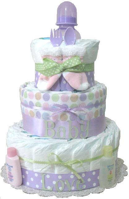 baby gift baby diaper cake lavender baby shower gift new mom, Baby shower invitation